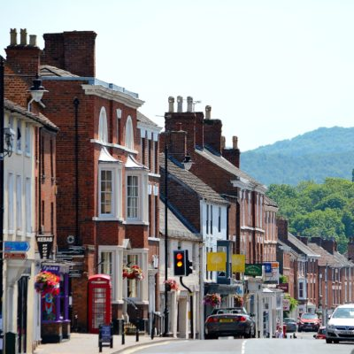 Pershore High Street Southern View