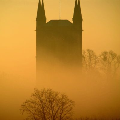 The Abbey in fog