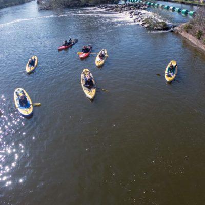 Bonkers Paddleboarding on River Avon