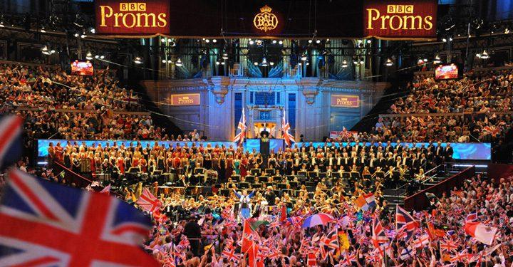 Last Night Of The Proms Crowd At Royal Albert Hall.