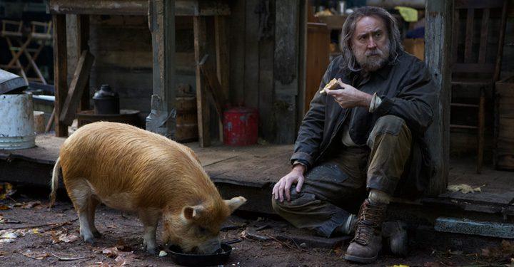 Nicholas Cage And A Pig.