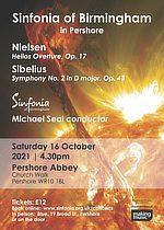 Poster For Sinfonia Of Birmingham Concert In Pershore