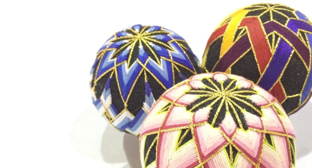 Three Temari Balls